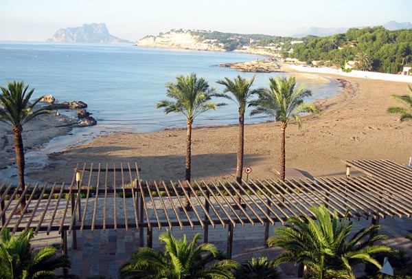Moraira, Costa Blanca.  Main beach
